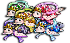 1 set of 5 Color Hime Turtles