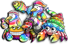 1 set of Rainbow Evolvers